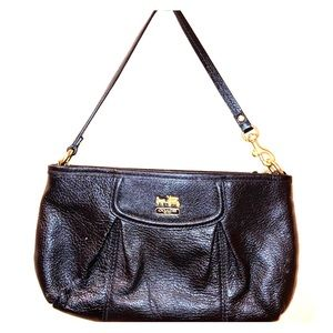 Vintage Black Leather Coach Wristlet